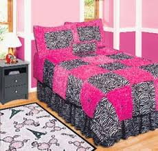 hot pink and zebra bedding