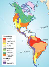 climas del continente americano