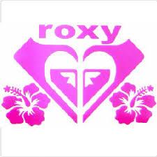 roxy car sticker