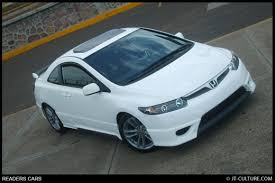 honda civic si white