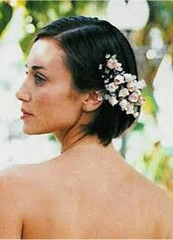 flower hair wedding