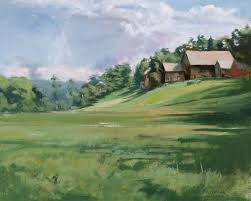 paintings of old barns