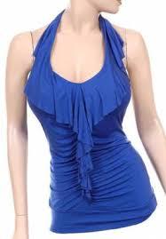 blue halter tops