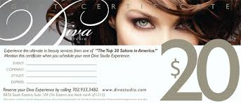 beauty gift certificates