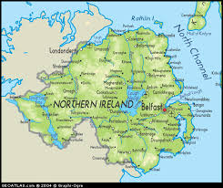map of n ireland