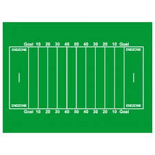 how to draw a football field