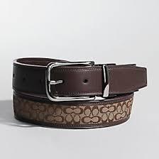 mens coach belts