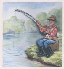 fisherman drawing