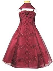burgundy flowergirl dress