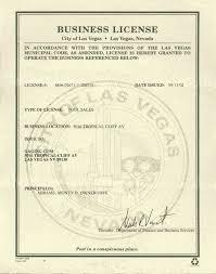 sample business license