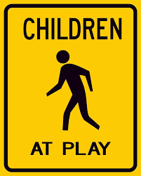 child at play sign