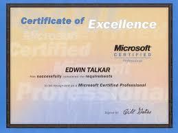 mcp certificate