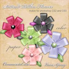flowers ribbons