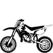 cartoon dirt bike