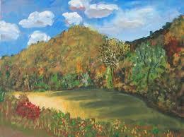 landscape acrylic