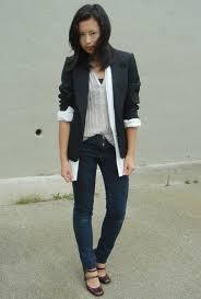 girls black blazer