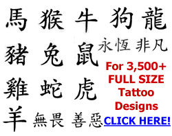 chinese letters for tattoos