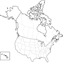 maps of the united states and canada
