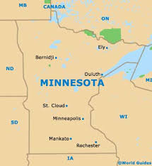 minnesota on a map