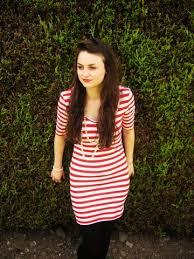 red white stripe dress