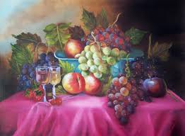 oil painting fruit