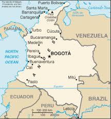 map of columbia sa