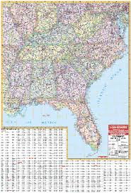 map of the south east us