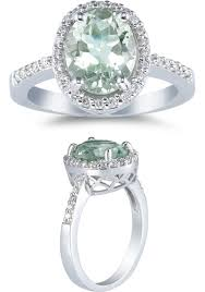 green amethyst and diamond rings