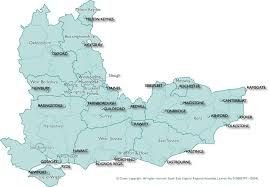 surrey postcode map