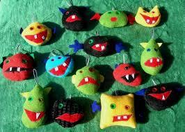 monster ornaments