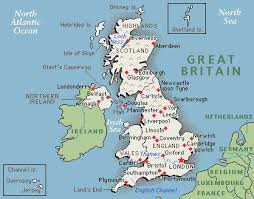map of britain cities