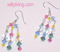 crystal bead earrings