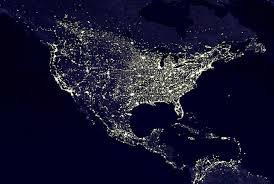 the world at night from space