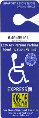 handicap parking sticker