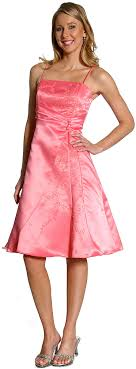 pink graduation dress