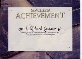 sales award certificates