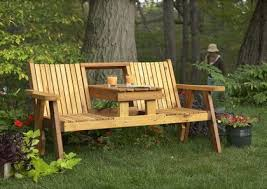 cedar outdoor bench