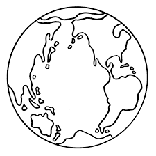 coloring picture of the earth