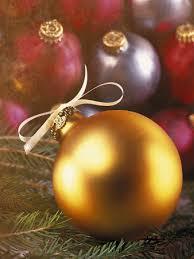 gold christmas ornament