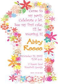 first bday invitations