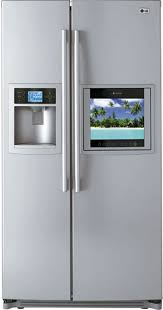 lg fridge with tv