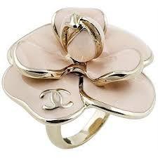 chanel flower earrings