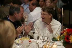 Steve Jobs y Bill Gates juntos