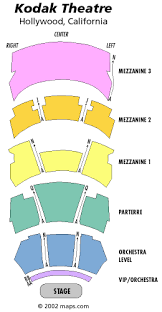 kodak theater seating