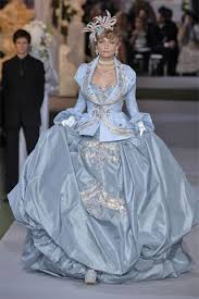 sky blue wedding dress