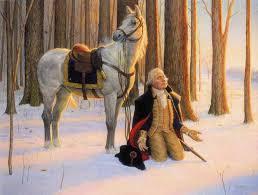 george washington praying painting