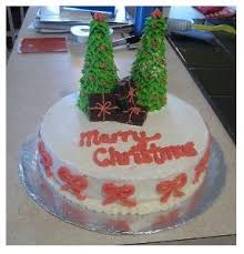 christmas tree cake decorating