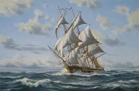 paintings of old ships