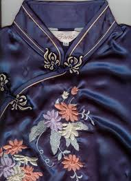 blue chinese dresses