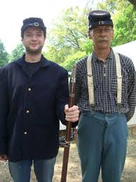 confederate and union uniforms